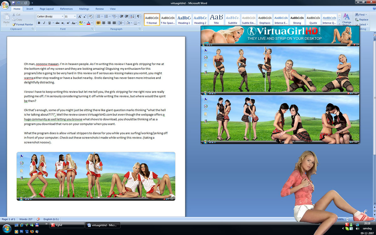 Virtual Girl Desktop Freeware